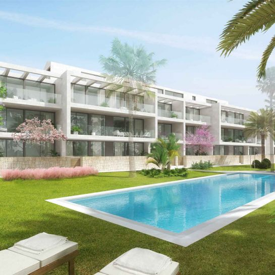 Apartments in a complex with pool in Jávea