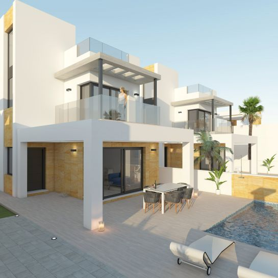 Exclusive villas of 1 or 2 floors in Torrevieja