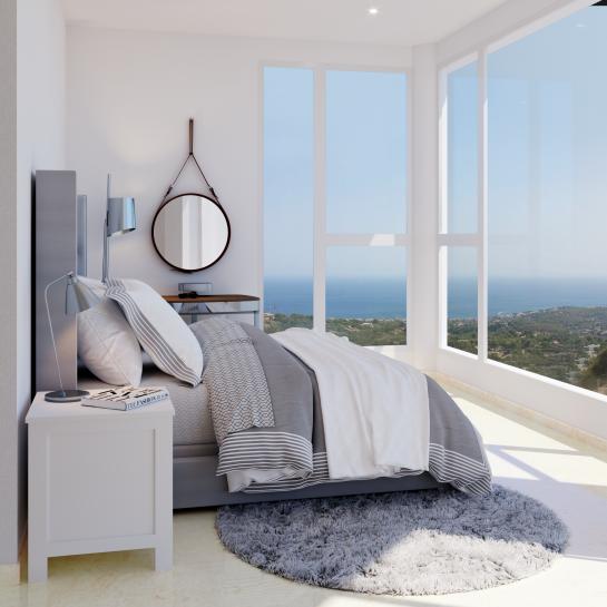 Villas with incredible views to the Mediterranean Sea in Altea