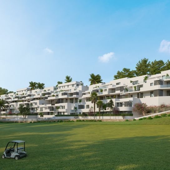 Apartments with views over golf courses in Estepona